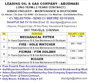 UAE JOBS : REQUIRED FOR A LEADING OIL AND GAS COMPANY IN ABUDHABI .g