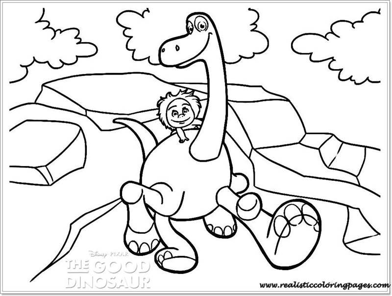 kids coloring pages good dinosaur  realistic coloring pages
