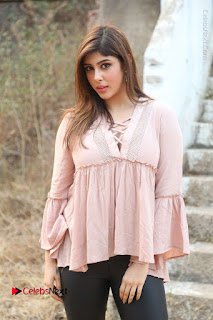 Telugu Actress Aditi Singh Stills in Leather Pants at Nenu Kidnap Iyanu Movie Press Meet  0010.JPG