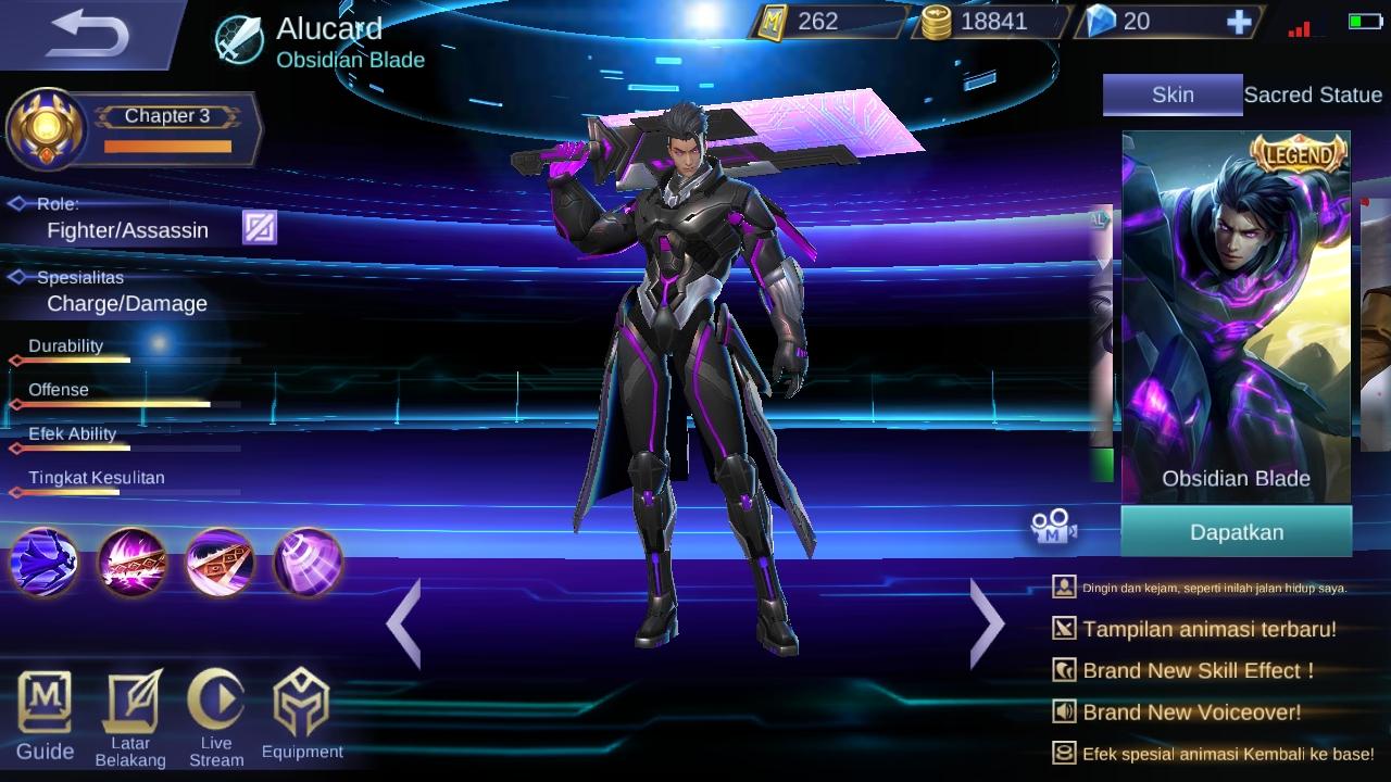 Alucard atau Dracula mampu Menghisap Darah di Mobile Legend.