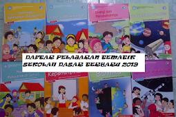 Daftar Pelajaran Tematik SD Kurikulum 2013 Update Terbaru 2019
