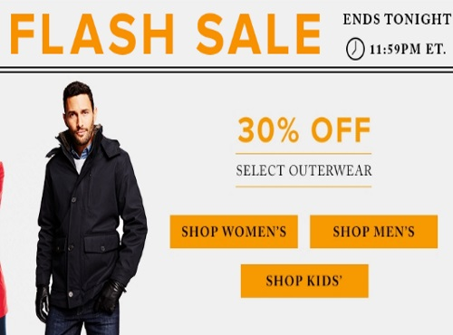 Hudson's Bay Flash Sale 30% Off Outerwear