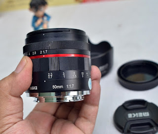 Lensa Meike 50mm f1.7 for Sony ( support fullframe )