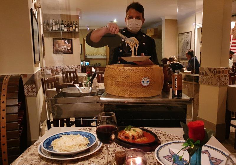 Spaghetti noqueijo gigante Grana Padano - Vila Velha