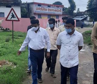 राज्य मंत्री श्री कावरे ने अपने गृहग्राम बघोली का किया भ्रमण