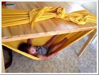 Cómo hacer una hamaca paraguaya improvisada para niños