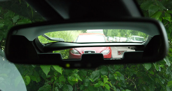 Looking through the 2016 Toyota Prius mirror