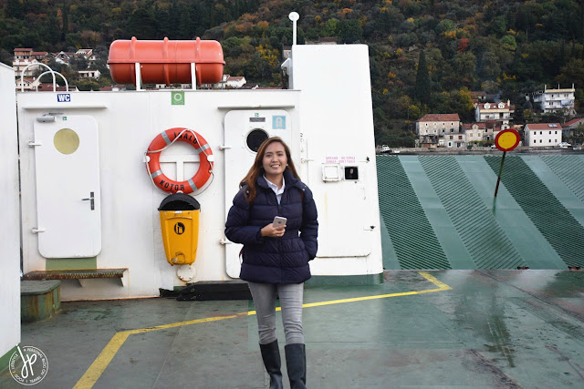 On board a Roro: Kotor Bay Ferry