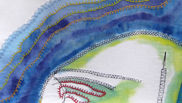 blanket stitch, paint fabrics, paint textiles, embroidery, modern embroidery