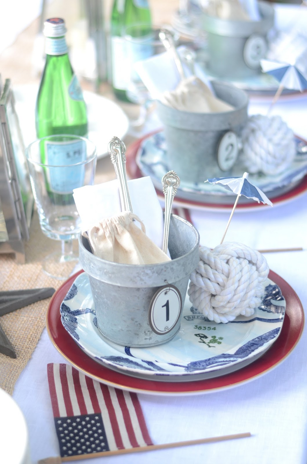 Iron Amp Twine Memorial Day Nautical Table Setting
