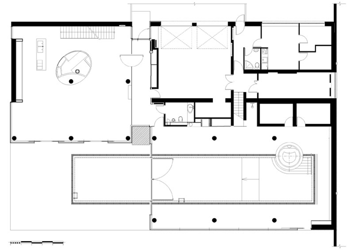 Floor plan of Contemporary house in Ukraine by Drozdov & Partners
