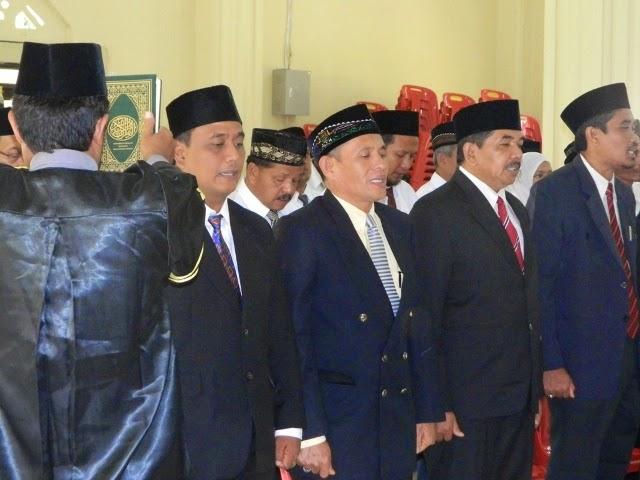 45 Pejabat eselon III dan IV Abdya dilantik, 11 Pejabat 'Nonjob'