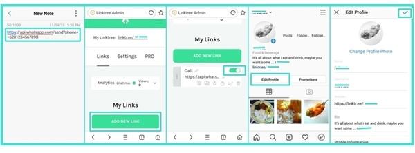 Cara menggunakan Linktree WhatsApp di Instagram