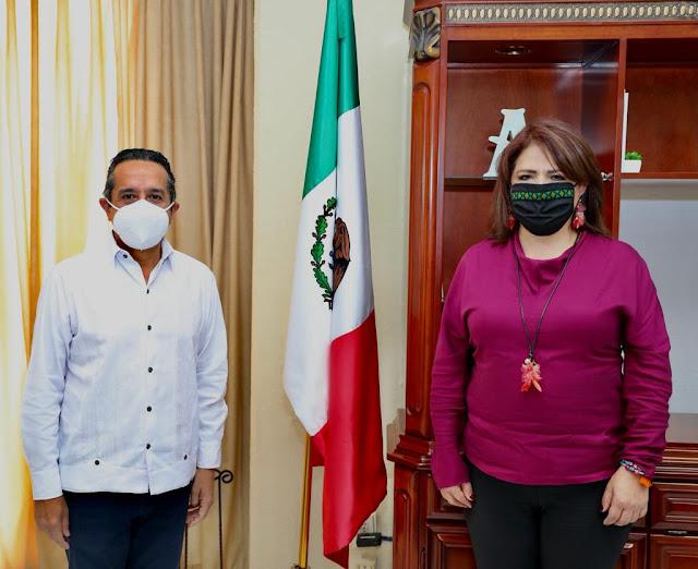 Titular de Conavim se reúne con gobernador y fiscal de Quintana Roo