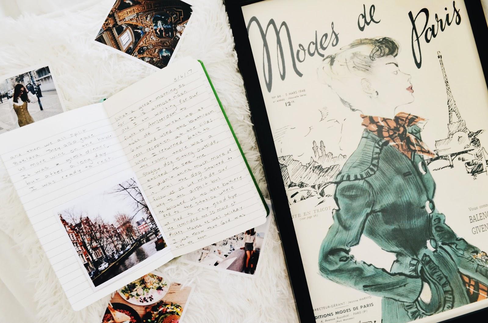 Printiki photo prints in travel journal