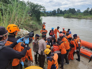 Tim Sar Gabungan Telah Menemukan Warga Yang Hanyut Di Sungai Maipi