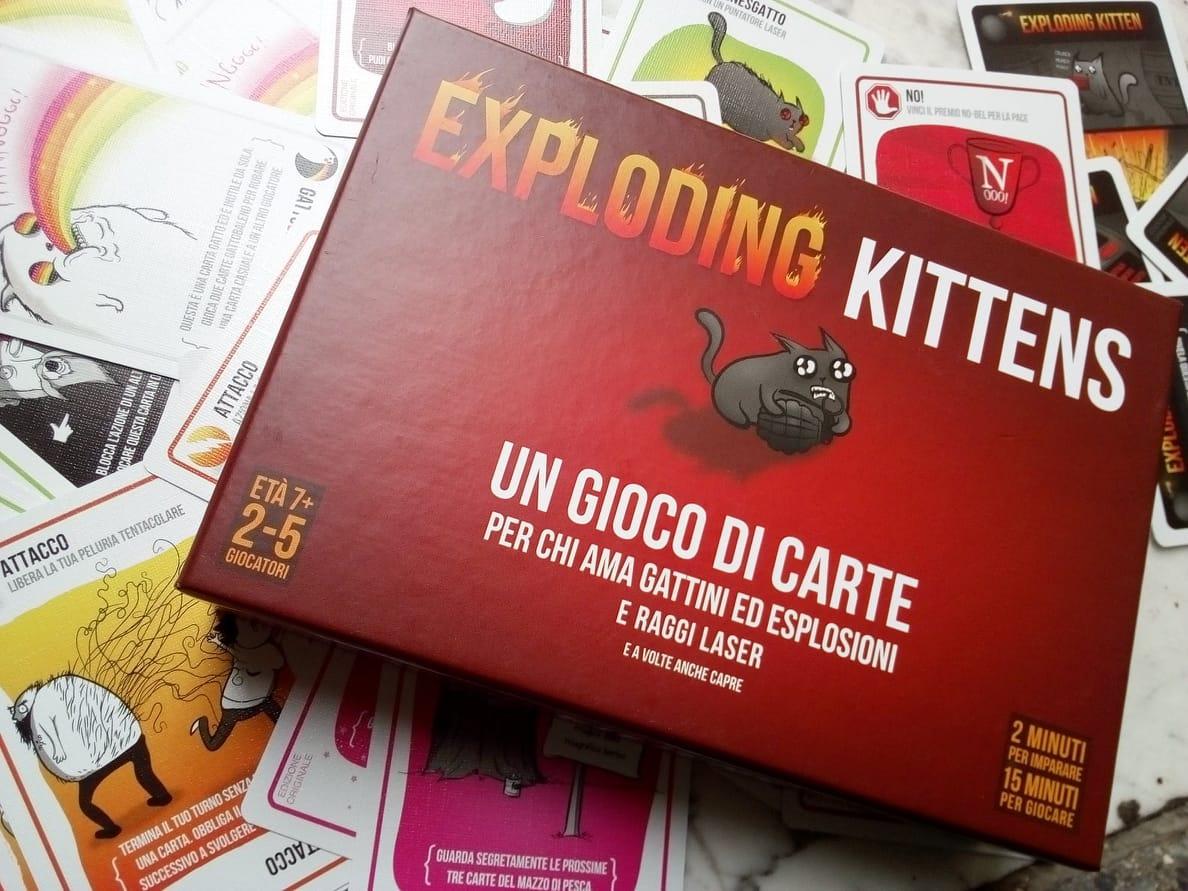 Exploding Kittens Il Gioco Di Carte Coi Gatti Bomba