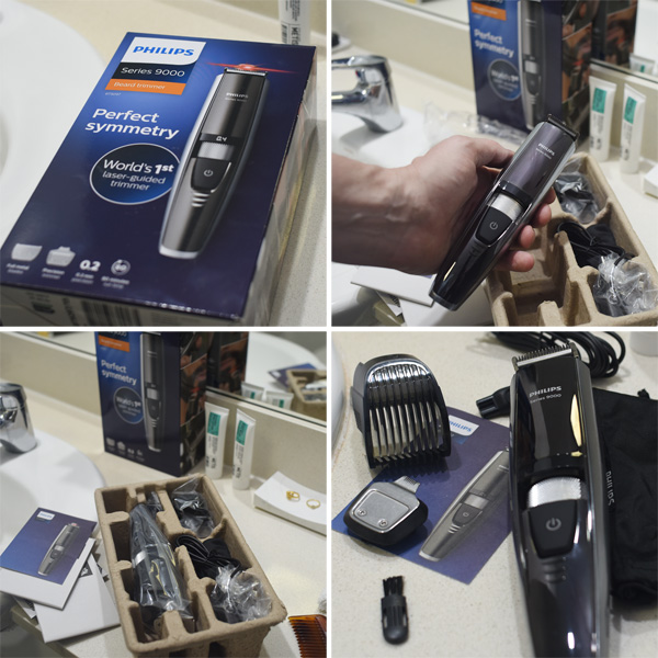 Unboxing and reviewing the Philips Series 9000 Laser Guided Beard Trimmer. By Kent Johnson for Street Fashion Sydney.