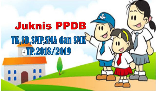 Juknis PPDB TK/SD/SMP/SMA/SMK Tahun pelajaran 2018/2019
