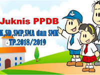 Download Juknis PPDB TK/SD/SMP/SMA/SMK Tahun pelajaran 2018/2019