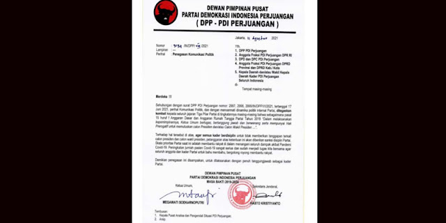 Semua Kader PDIP Dilarang Tanggapi Isu Capres 2024?