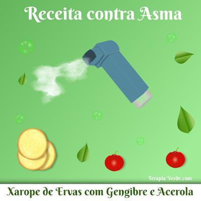 Receita Contra Asma: Xarope de Ervas com Gengibre e Acerola