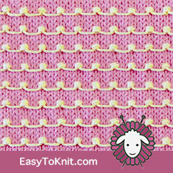 Textured Knitting 29: Tiny Bobble | Easy to knit #knittingstitches #knitpurl