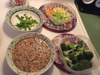 Chopped vegetables for dinner