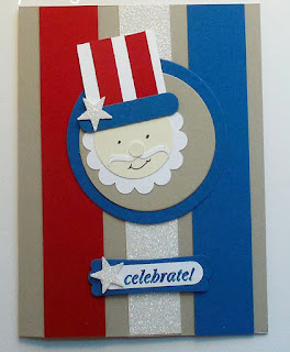 Uncle Sam Punch art made with Stampin'UP! punches