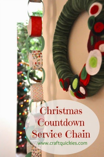 easy DIY countdown service chain to count down to the Christmas holiday