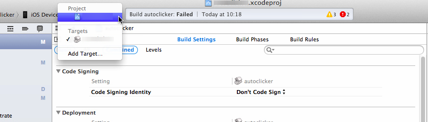 Xcode iOs Open Dev Error:
