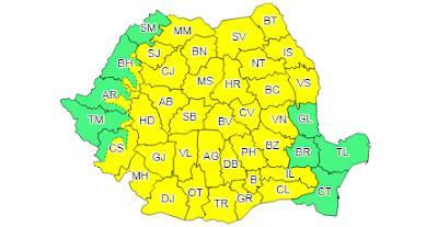 ANM, időjárás, Románia, vihar, viharriadó