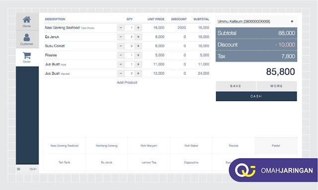 Tampilan Dashboard Kasir Review Aplikasi Kasir Berbasis Web PHP, MySQL, dan Codeigniter