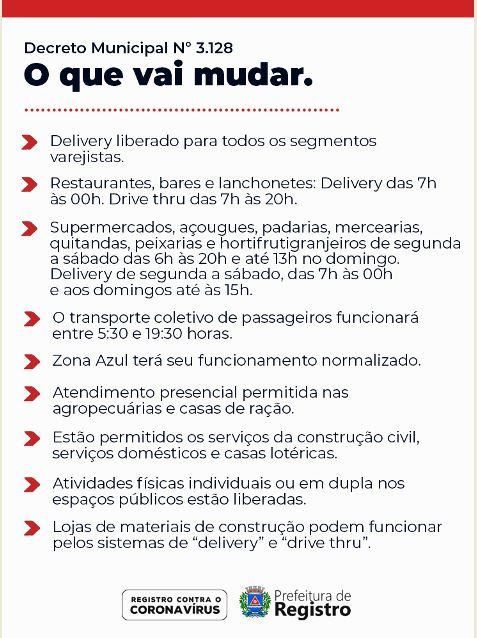 Prefeitura de Registro-SP emite novo  decreto