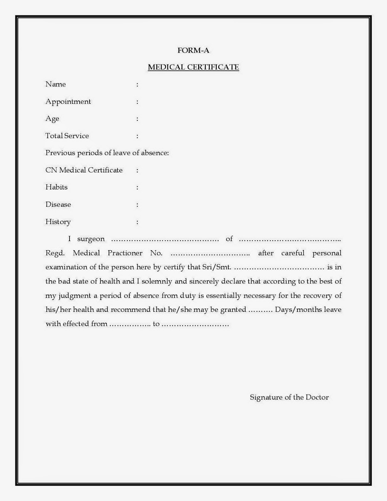 FORM_A_FOR_MEDICAL_LEAVE Teacher Leave Application Form on california maternity, z1a, south african, for student, pro-family maternity, sample word format,