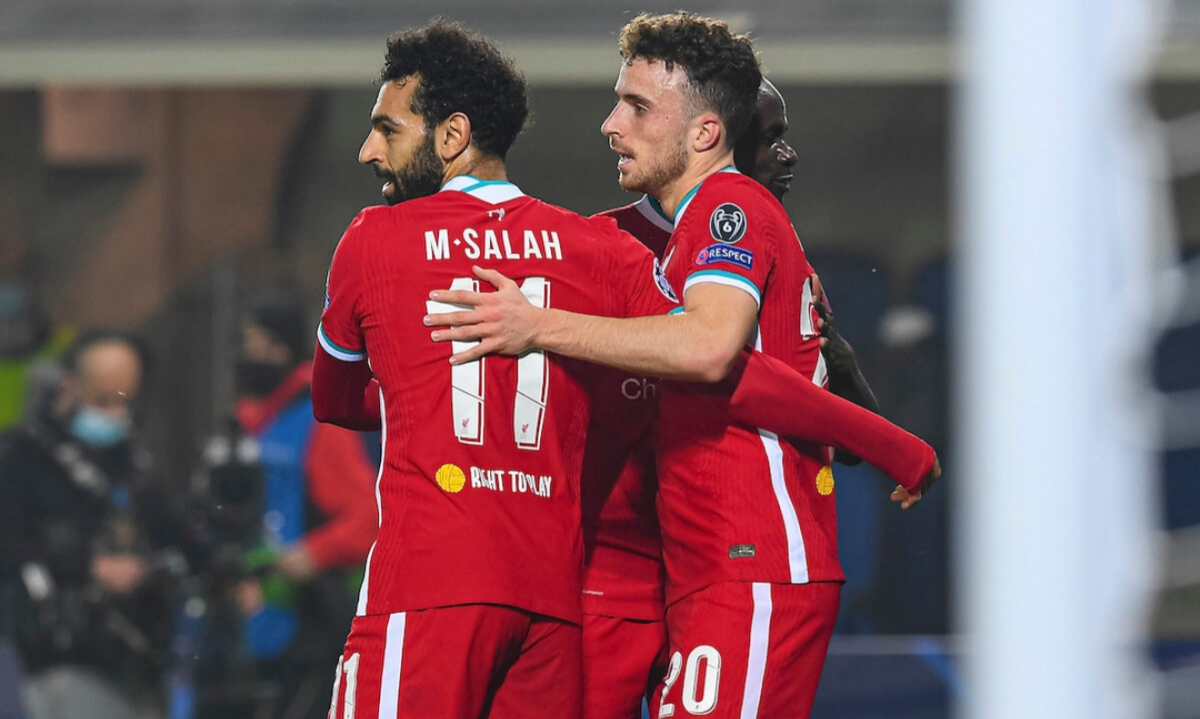 Mohamed Salah and Diogo Jota in Liverpool's win over Atalanta