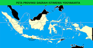 Peta Provinsi Daerah Istimewa Yogyakarta