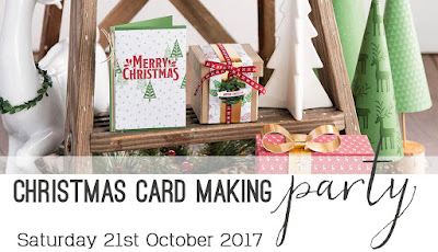 Save the Date, Holiday Catalogue Card Making Party, Bendigo, October 2017