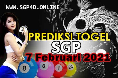 Prediksi Togel SGP 7 Februari 2021