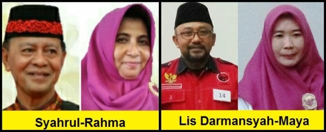 Dua pasang calon walikota dan wakil walikota Kota Tanjungpinang 2018