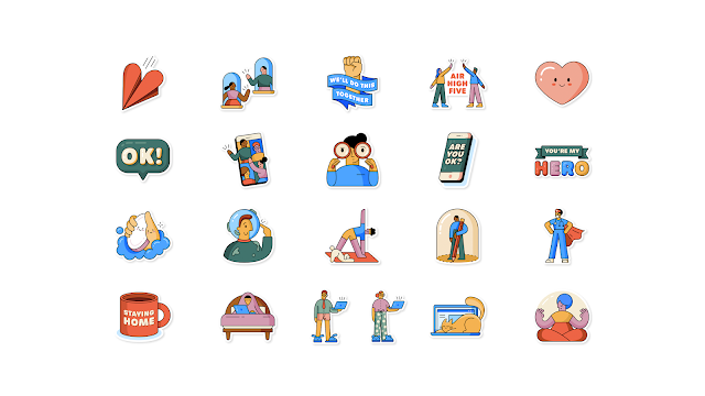 "WhatsApp partners with WHO to create the ""Together at Home"" sticker pack"