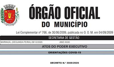 Novo decreto ajusta horários do comércio e serviços e mantém toque de recolher em Maringá