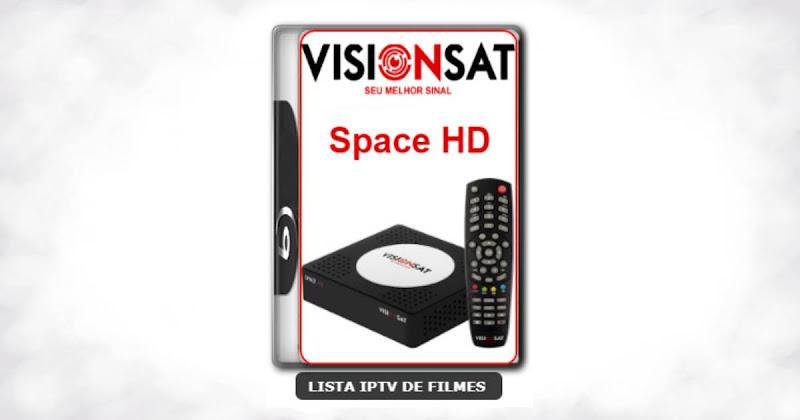 Visionsat Space HD Nova Atualização 61W, 63W, 107W, IKS e VOD V1.60