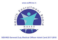 WBHRB General Duty Medical Officer Admit Card