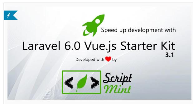 Laravel 6.0 Vue.js SPA Bootstrap Admin
