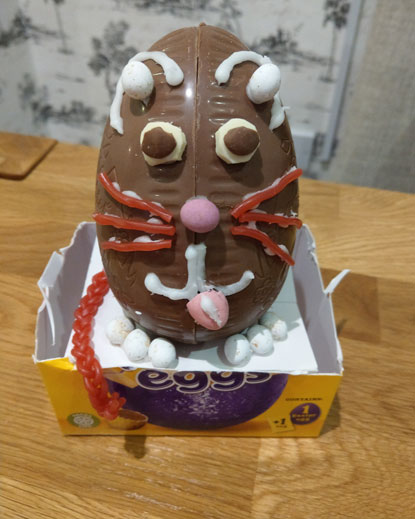 cat Easter egg