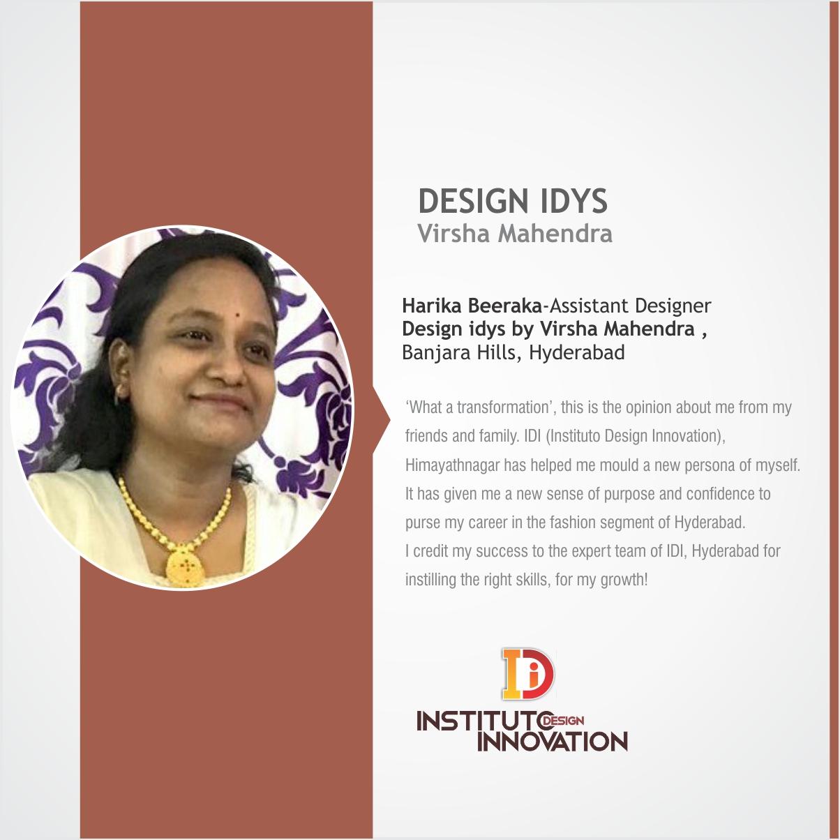 Harika Beeraka Assistant Fashion Designer
