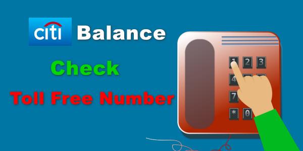 Citibank Account Balance Check