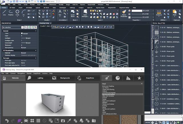 3D BIM IFC Rendering progeCAD 2020