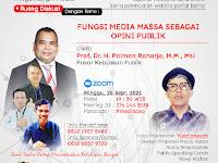 Tagar #NgomonginMedia : Fungsi Media Massa Sebagai Opini Publik